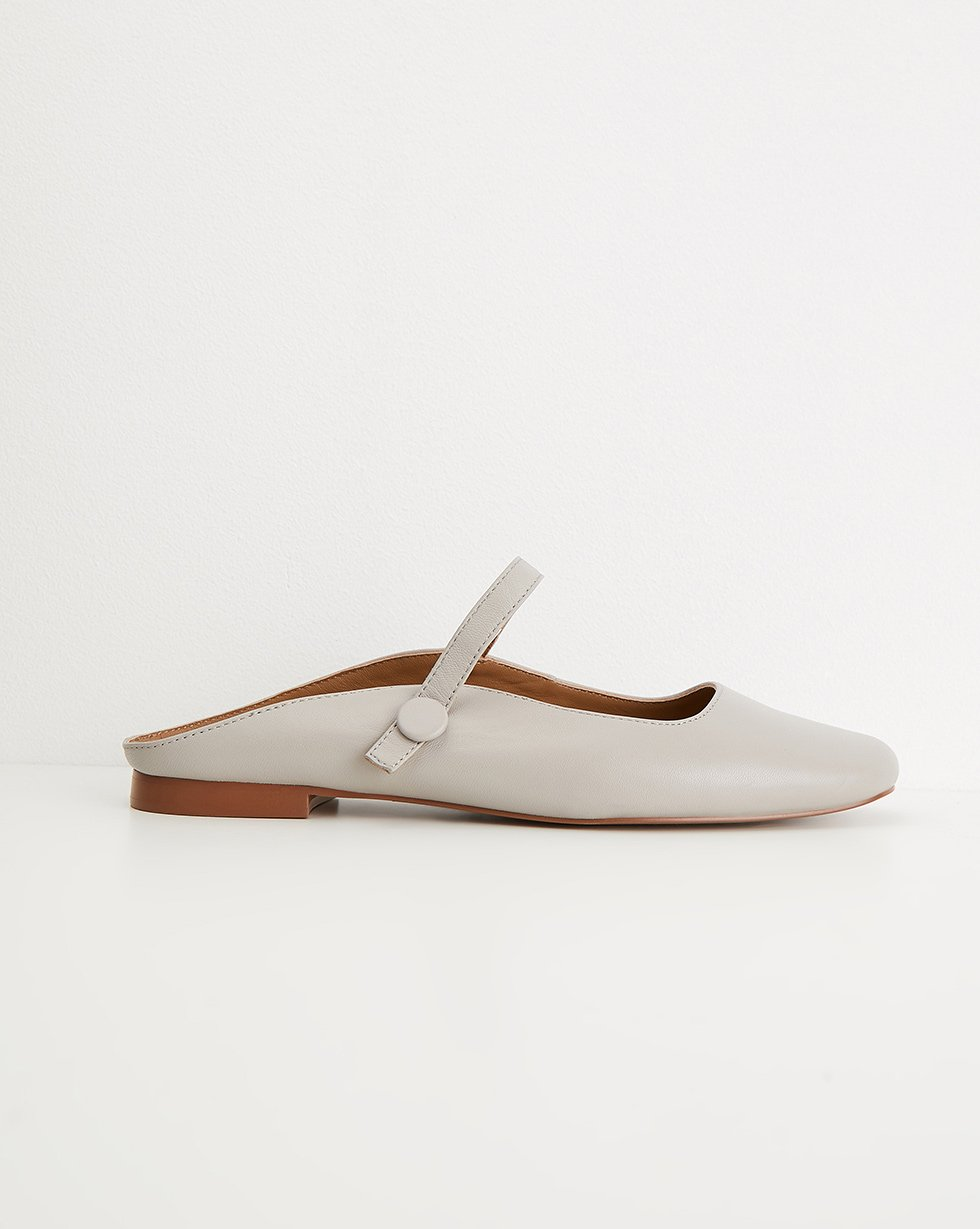 Leather ballerina mules - 12 STOREEZ