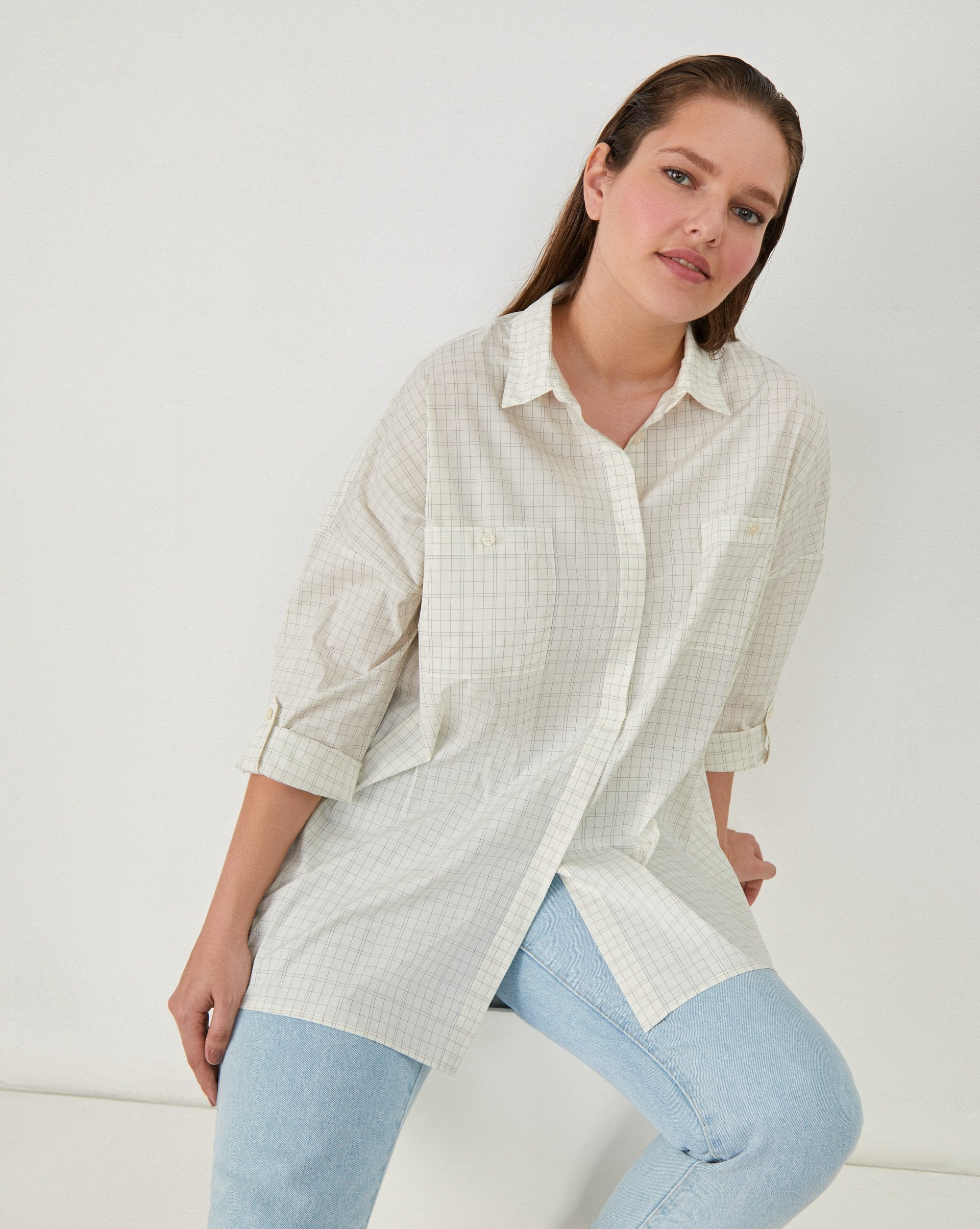 Oversized checked button up shirt - 12 STOREEZ