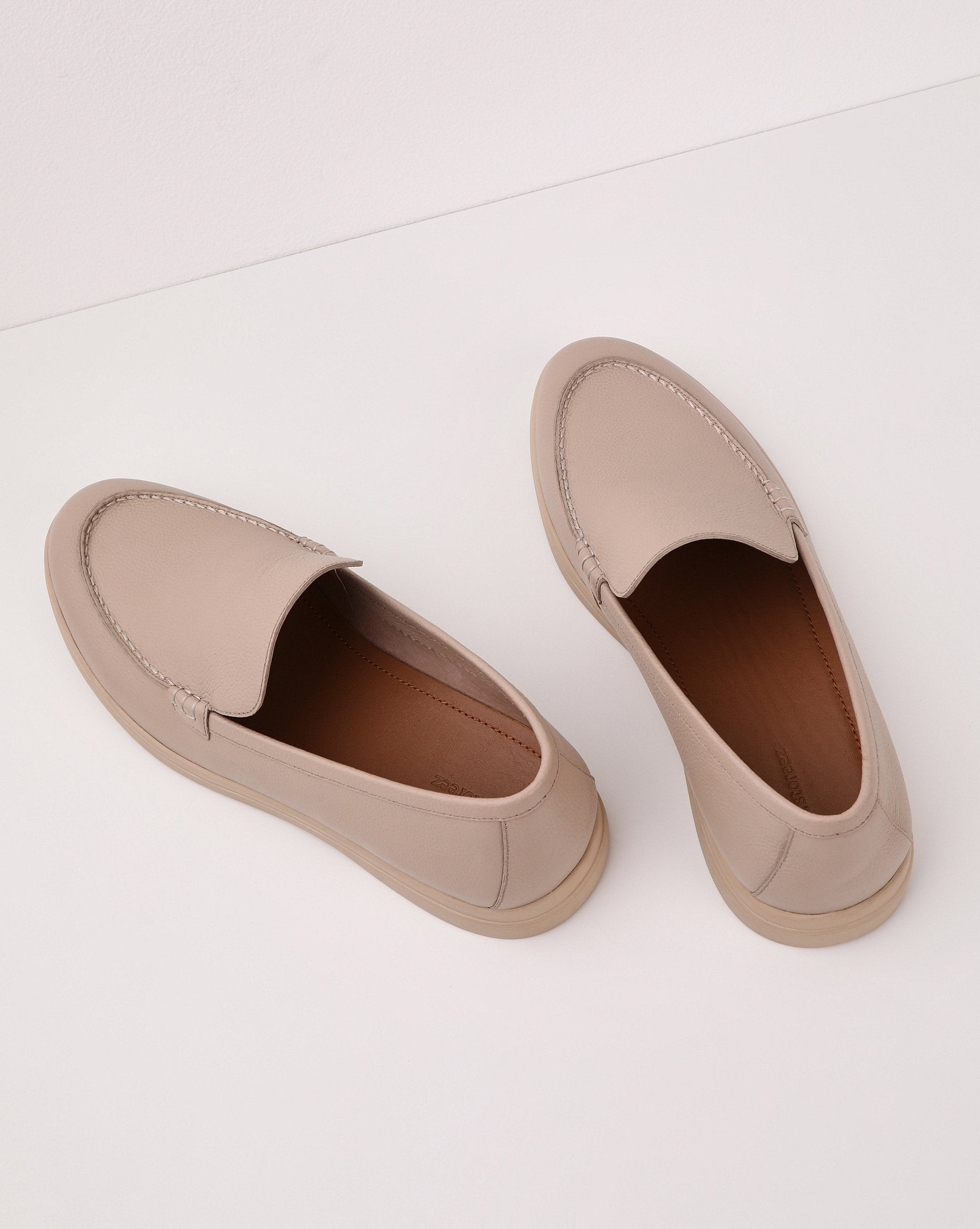 Round toe leather loafers - 12 STOREEZ