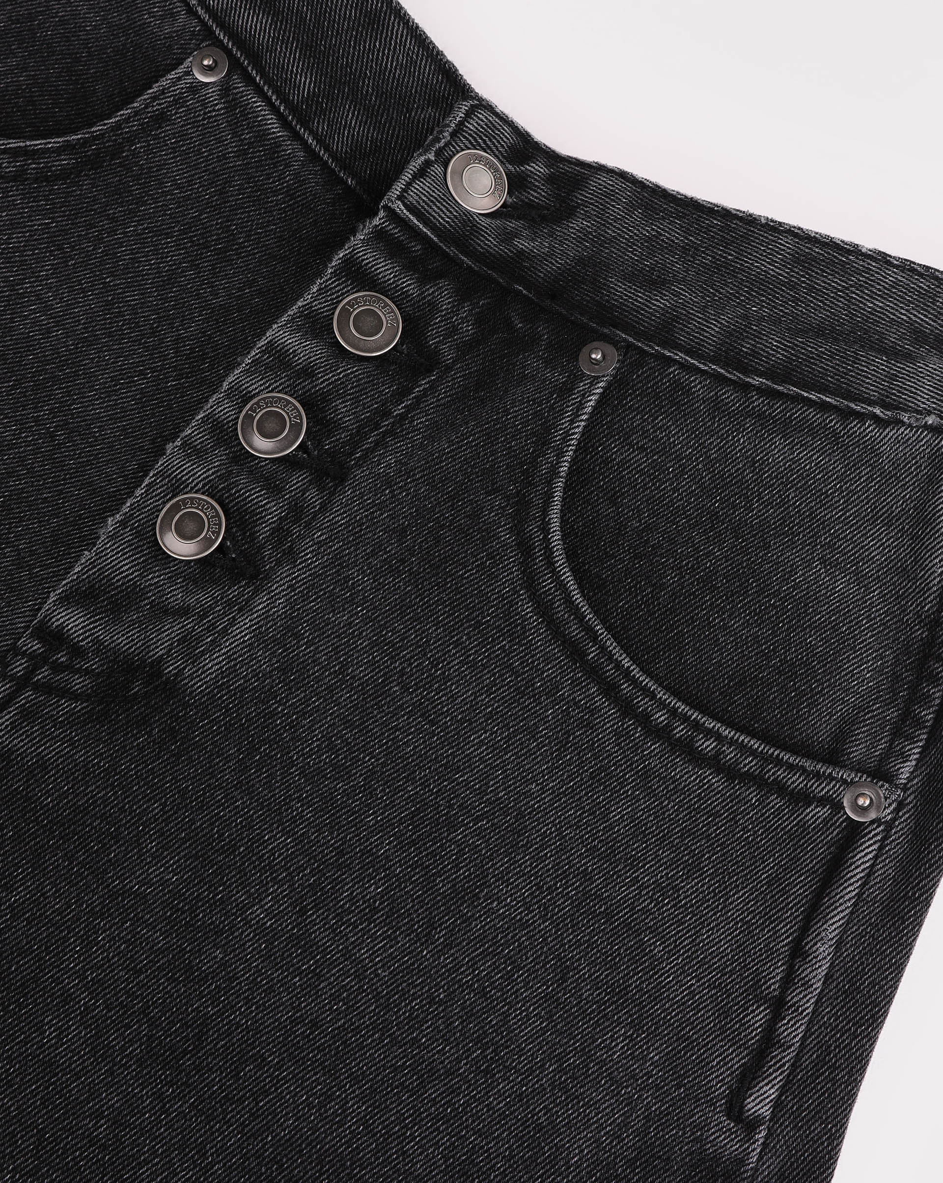 Wide leg button fly jeans - 12 STOREEZ