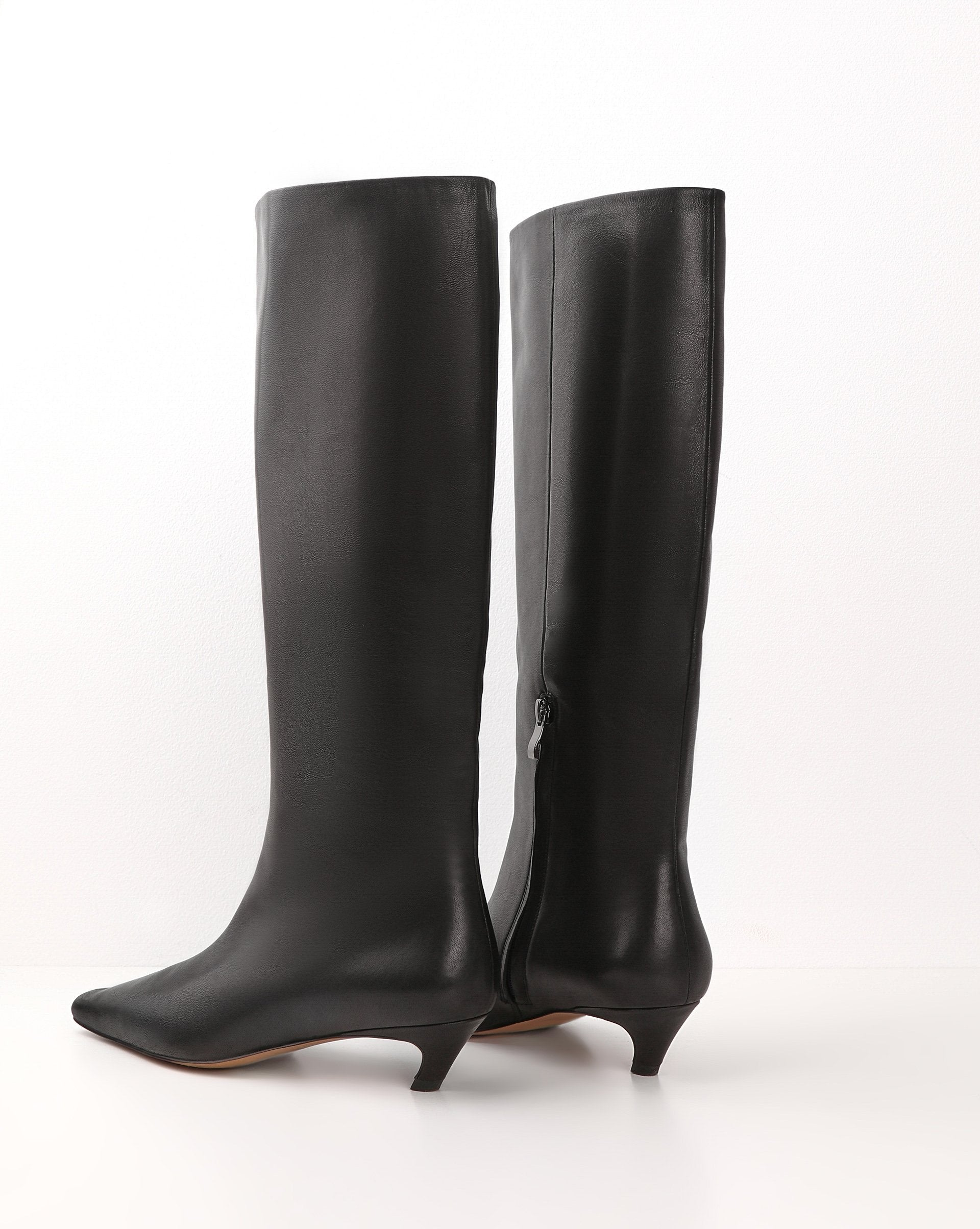 Pointed square toe leather boots - 12 STOREEZ