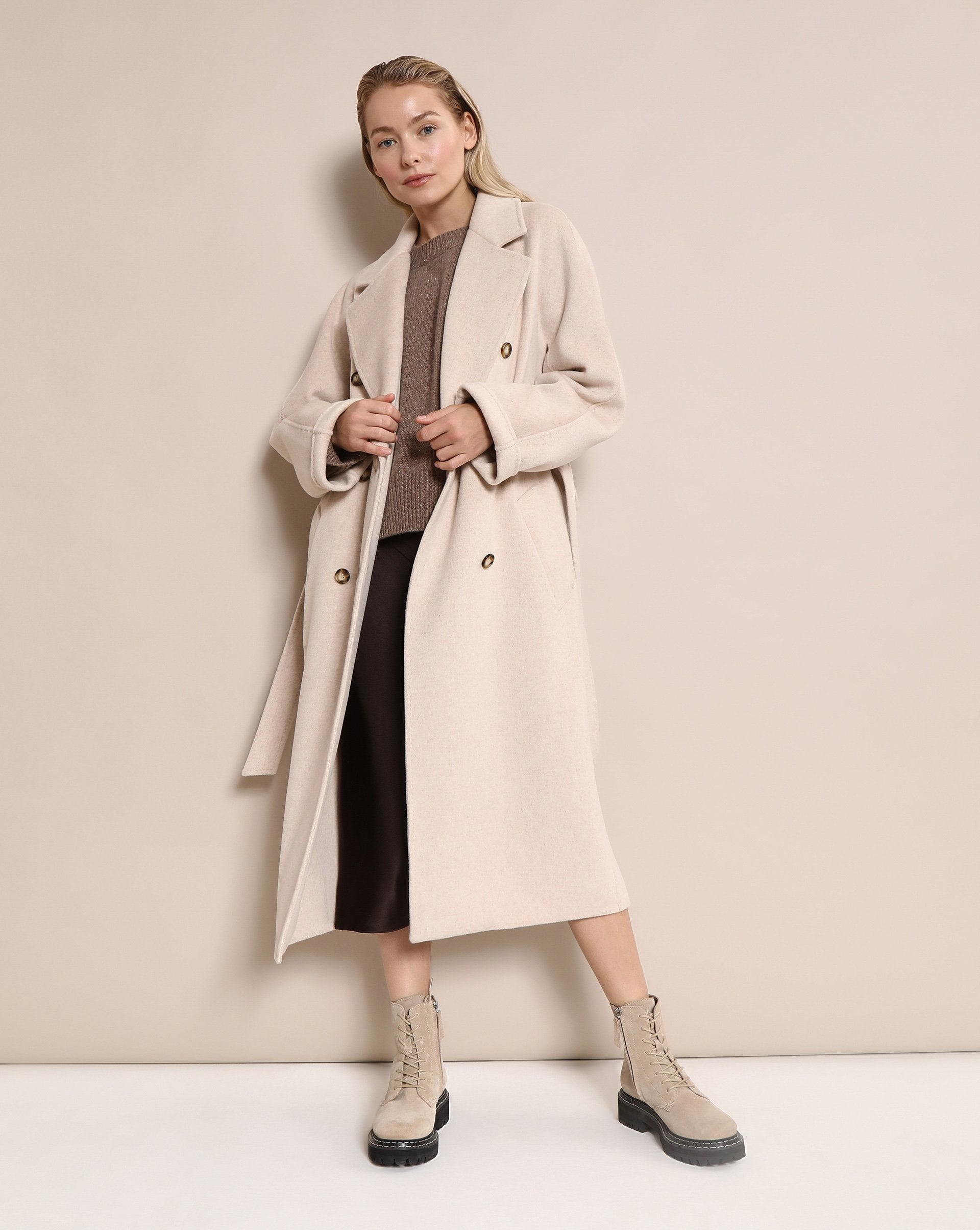 Belted double-breasted coat - 12 STOREEZ