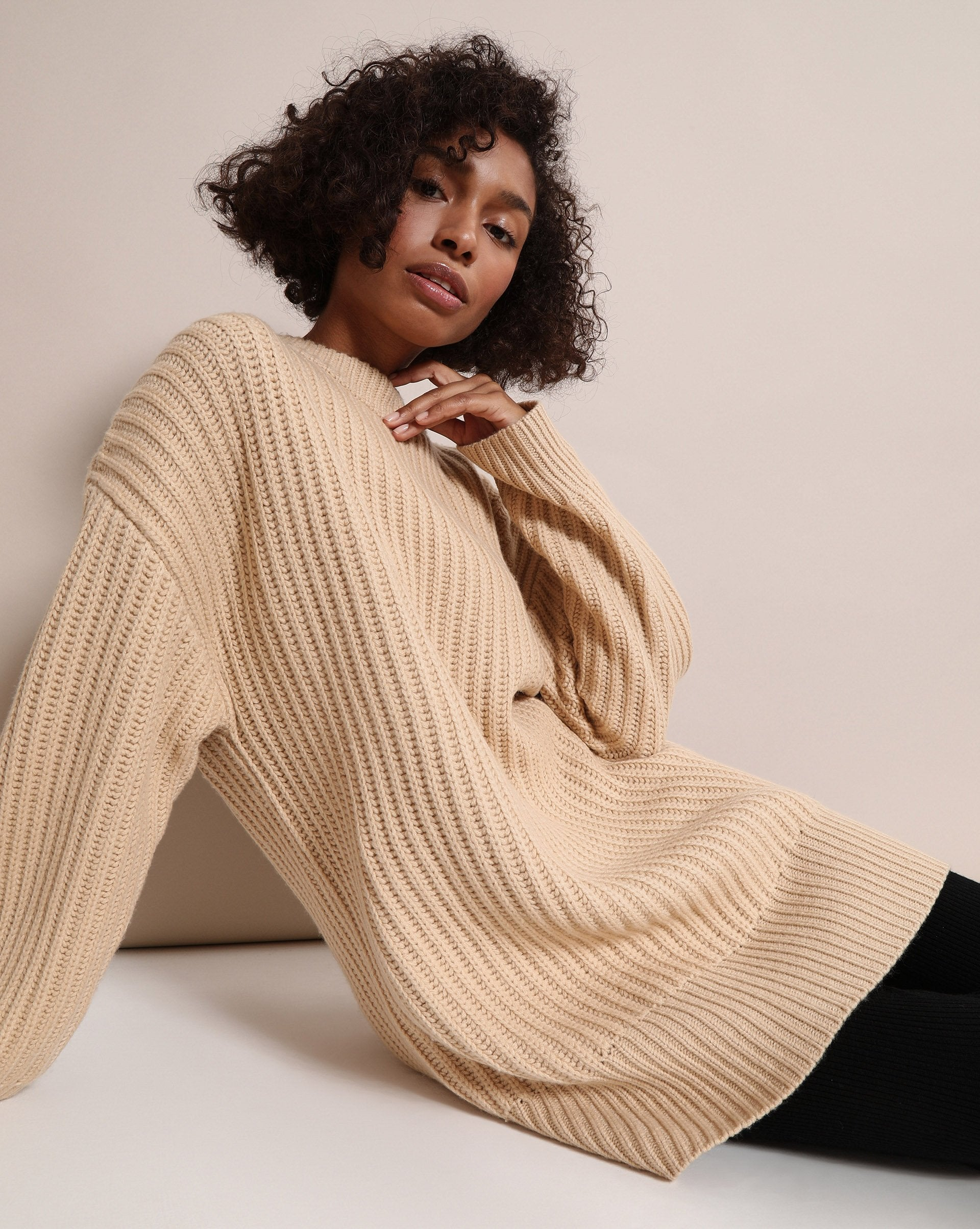 Wool blend ribbed jumper - 12 STOREEZ