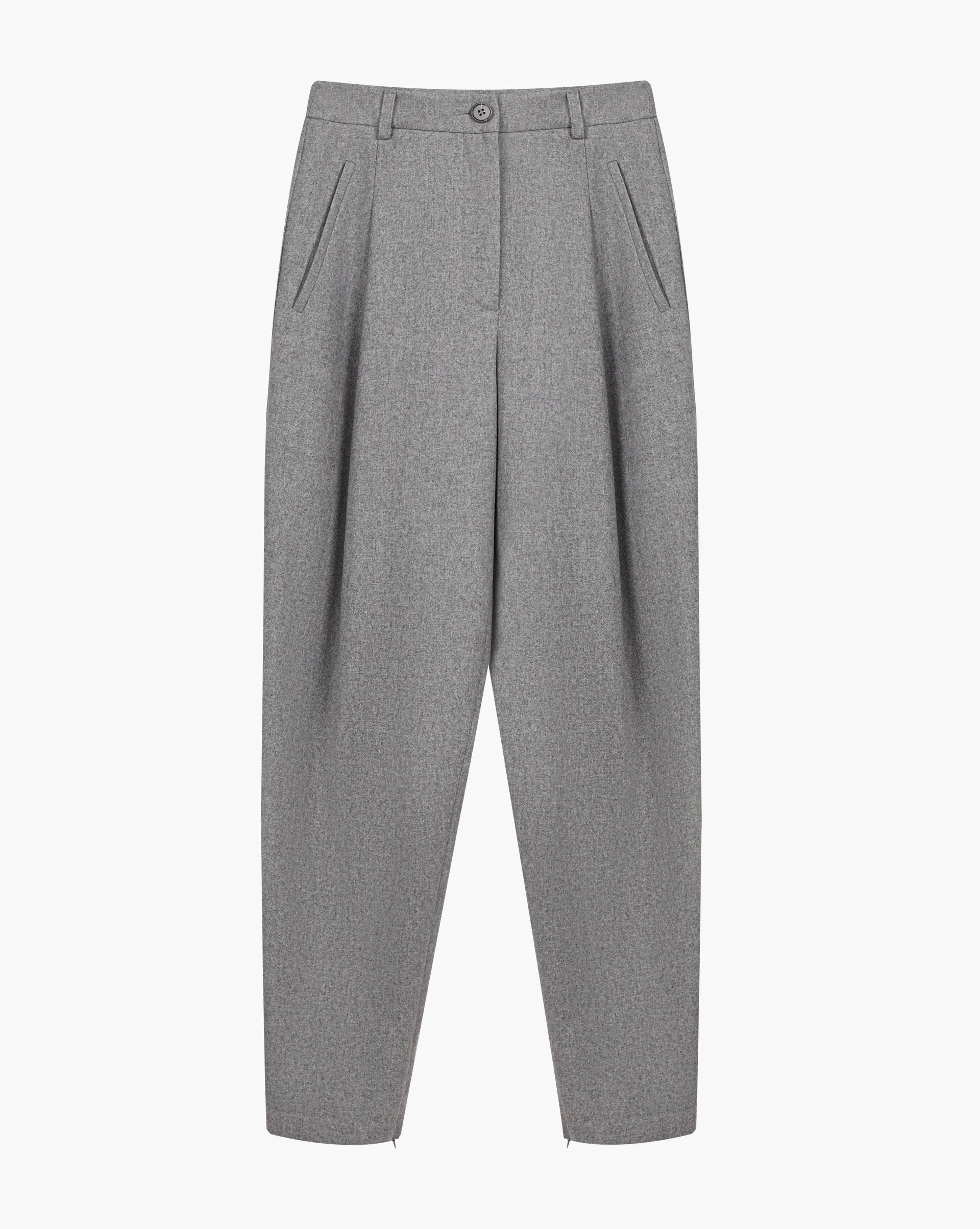 Pleated zip-cuff trousers - 12 STOREEZ
