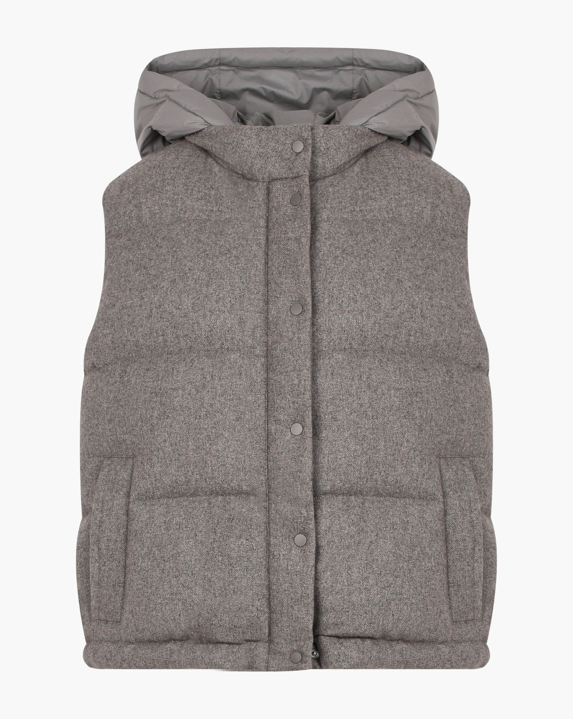 Hooded puffer vest - 12 STOREEZ
