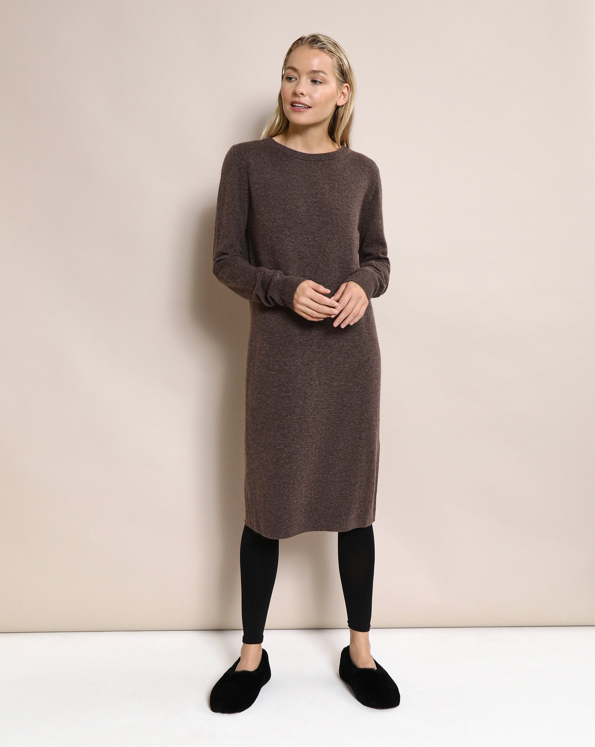 Cashmere and wool blend crew neck dress - 12 STOREEZ