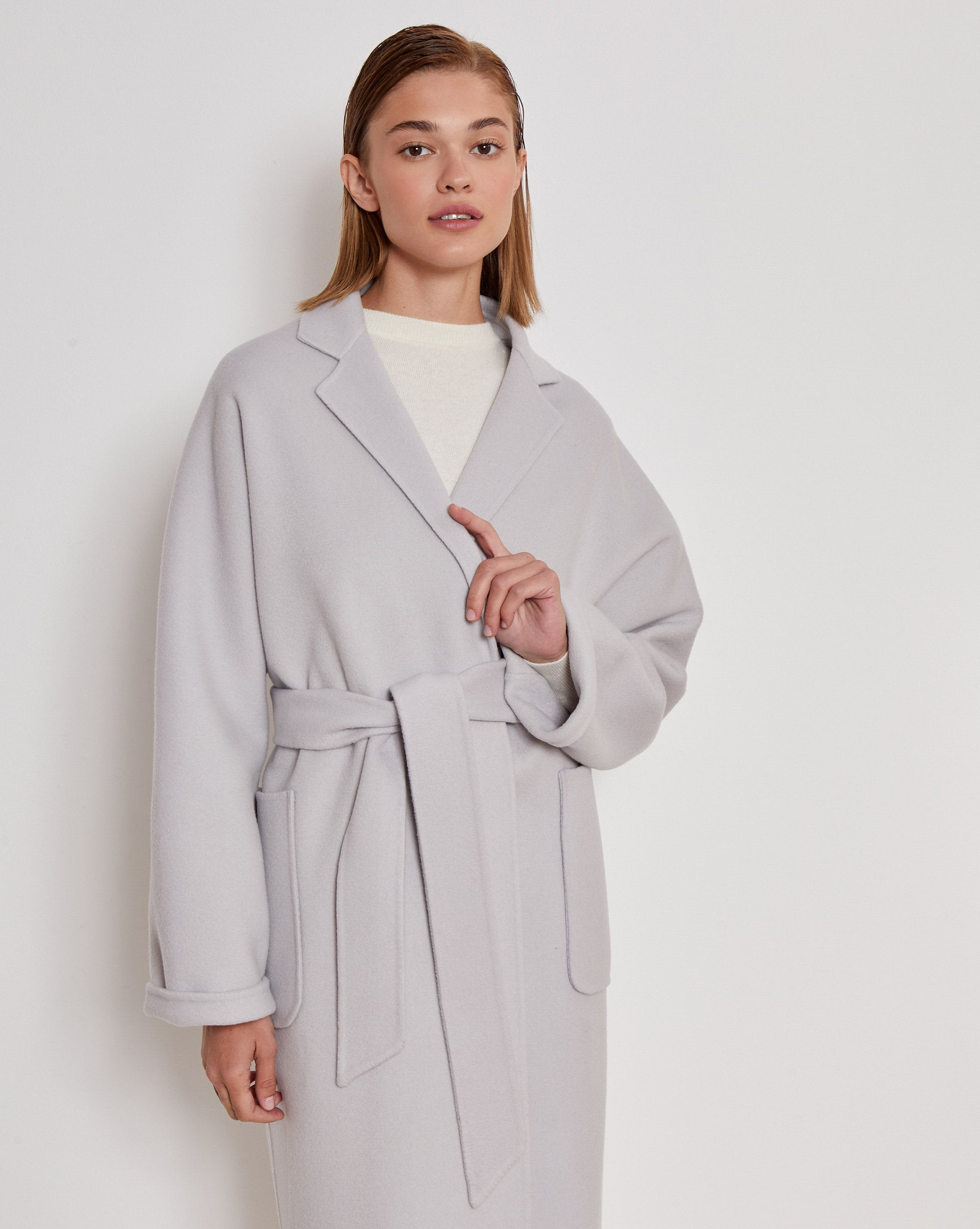 Belted wool and cashmere blend coat - 12 STOREEZ