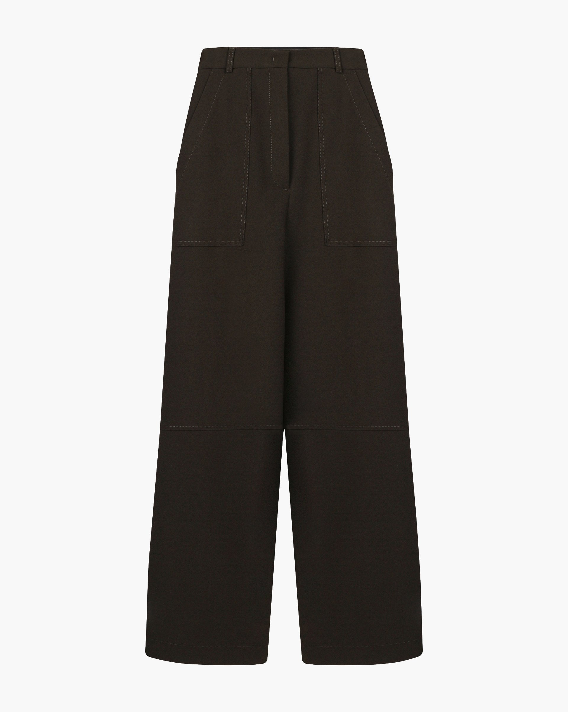 Patch-pocket straight leg trousers - 12 STOREEZ