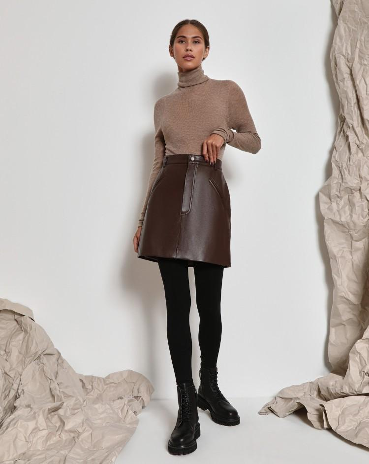 Faux-leather mini skirt - 12 STOREEZ