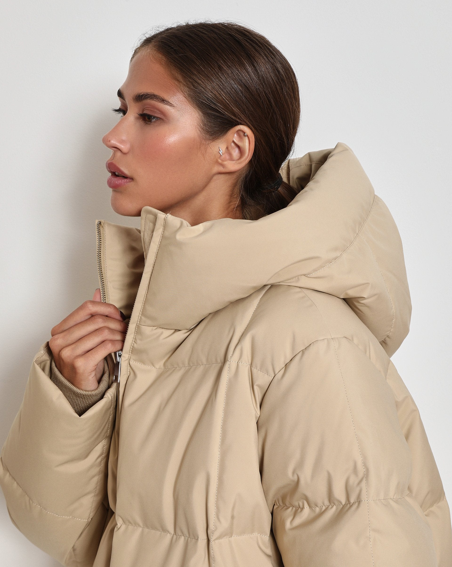 Oversized hooded puffer jacket - 12 STOREEZ
