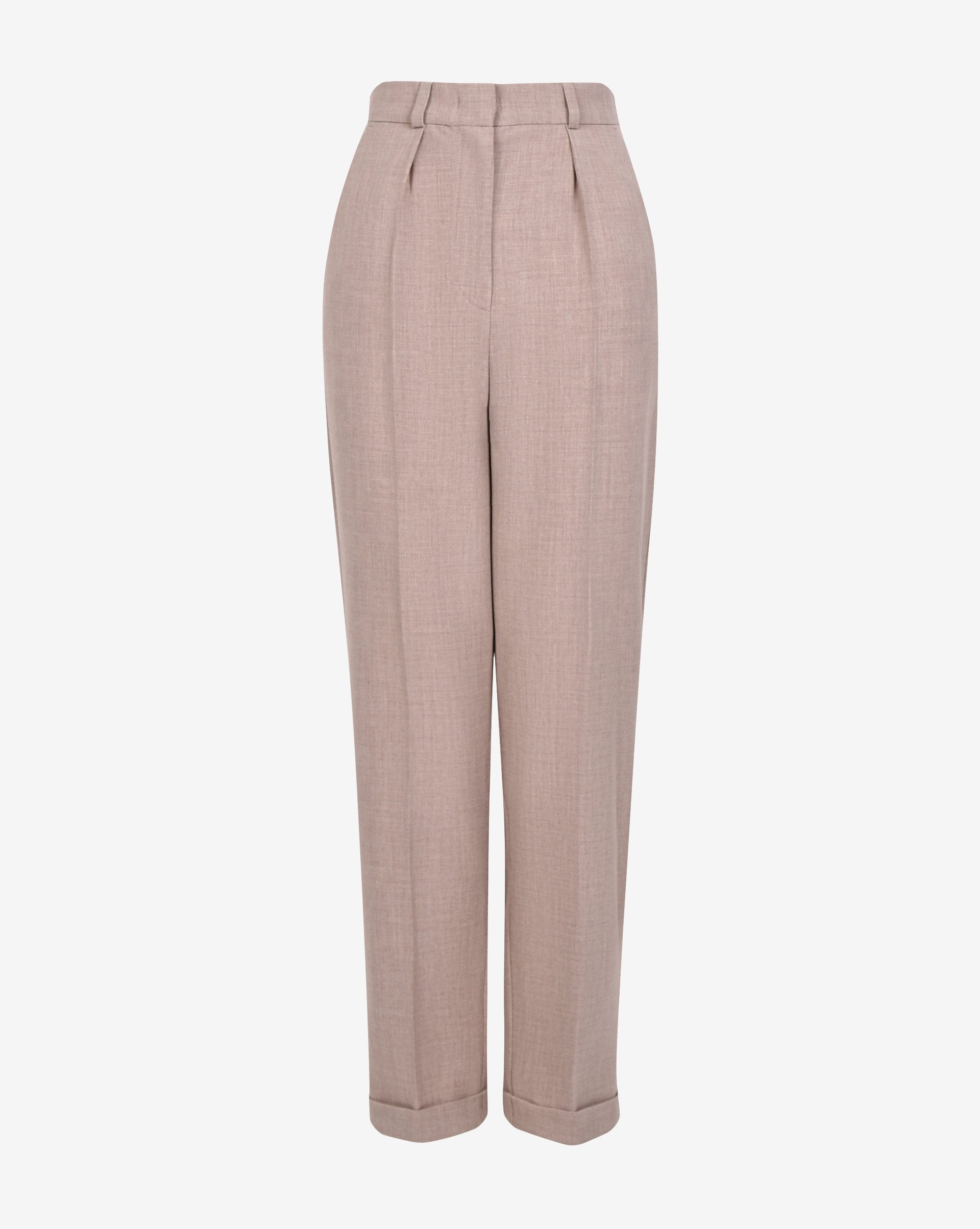 Rolled hem creased trousers - 12 STOREEZ