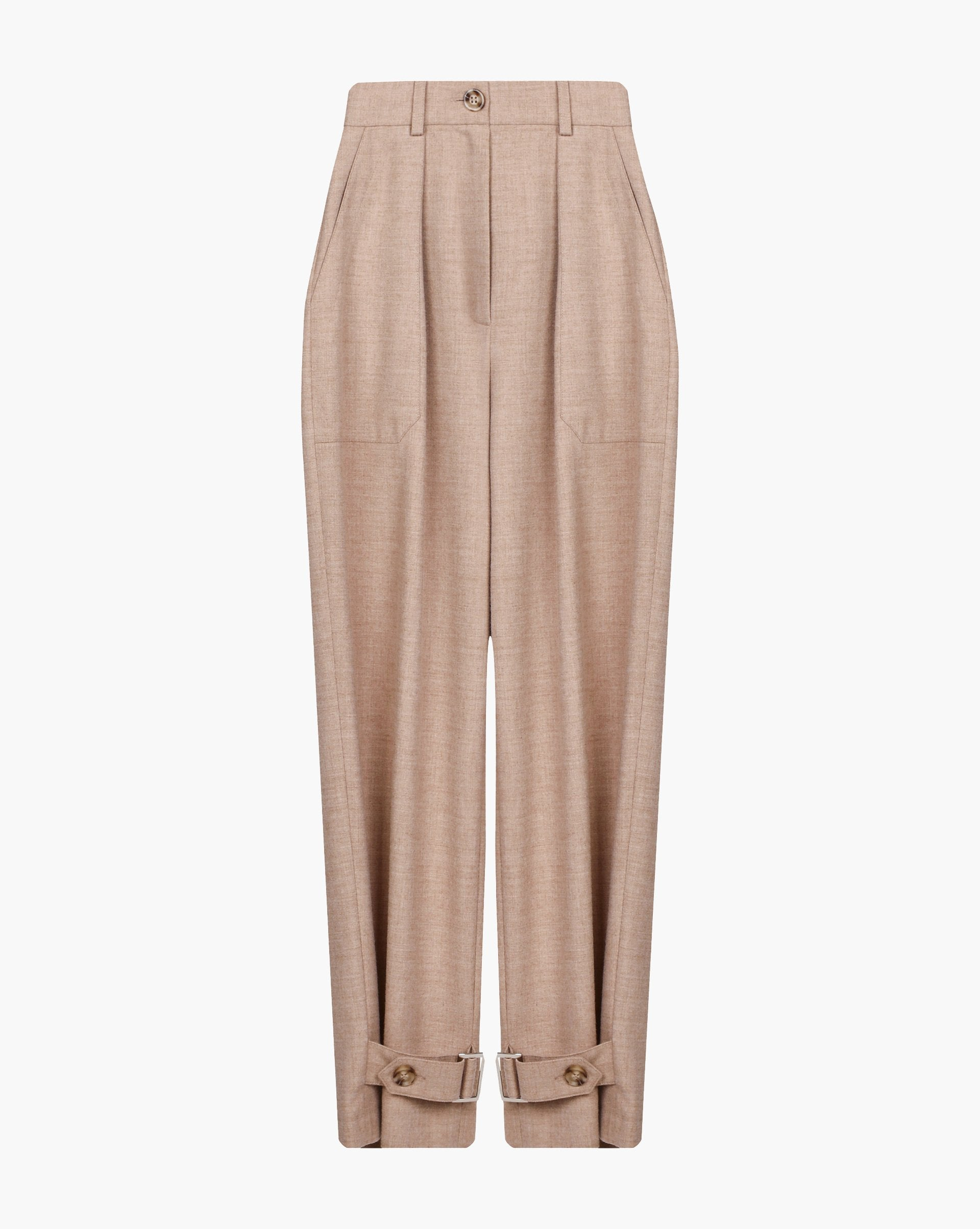 Belted cuff pleated trousers - 12 STOREEZ