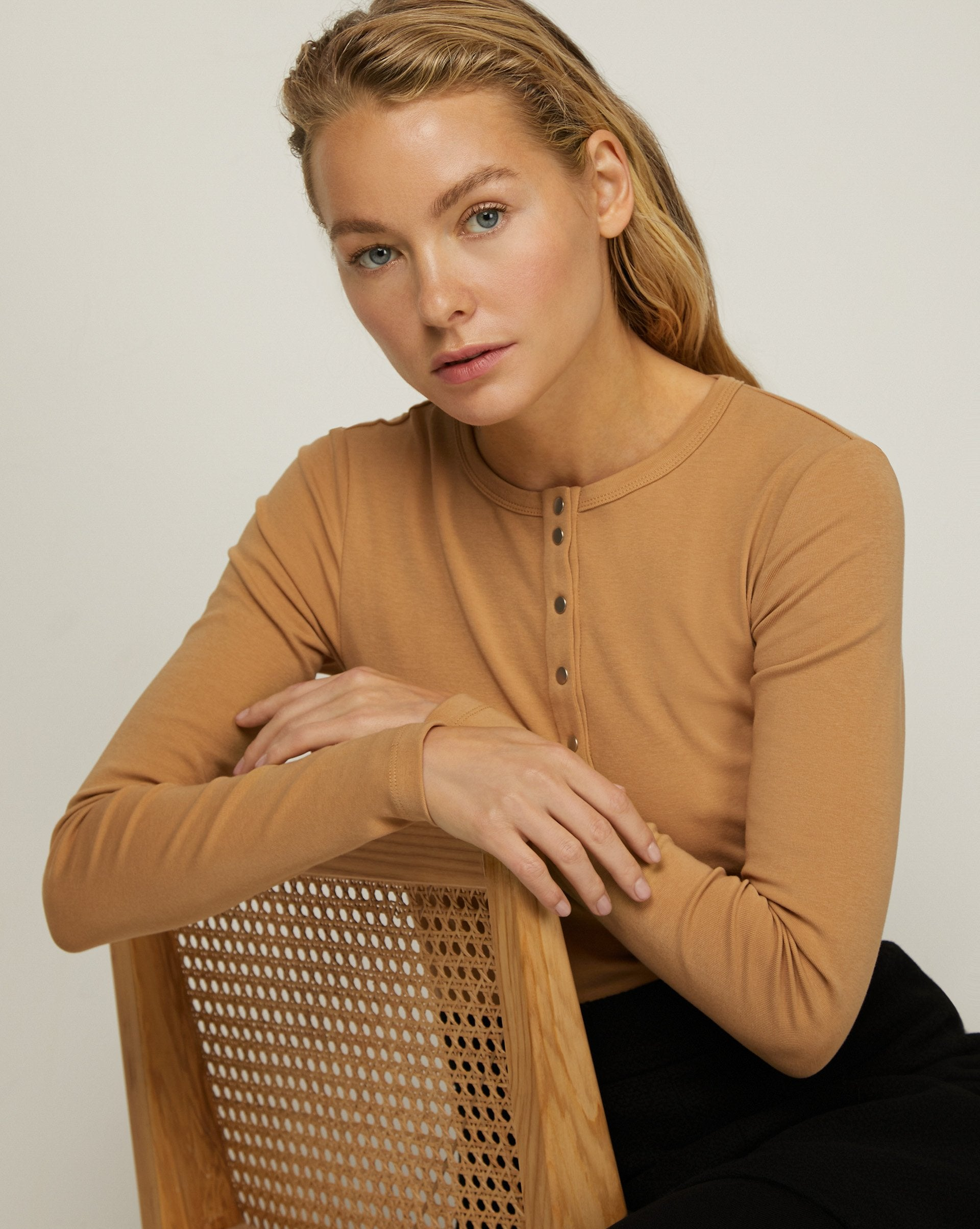 Ribbed henley top - 12 STOREEZ