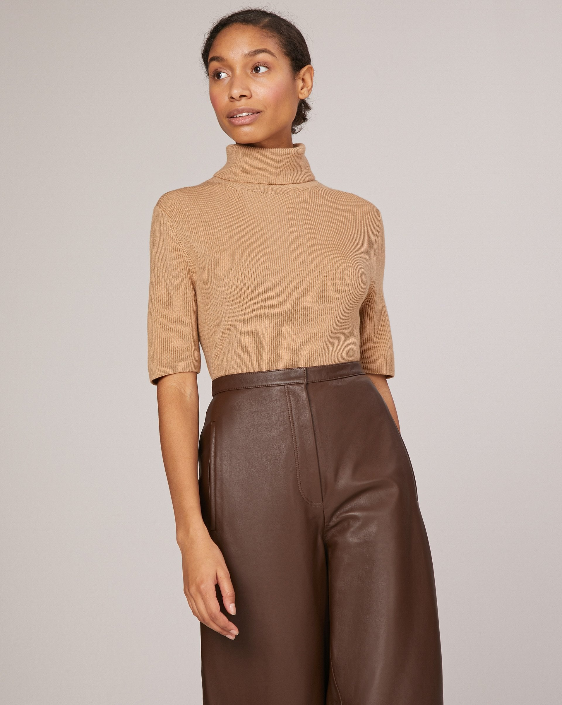 Leather tapered leg trousers - 12 STOREEZ
