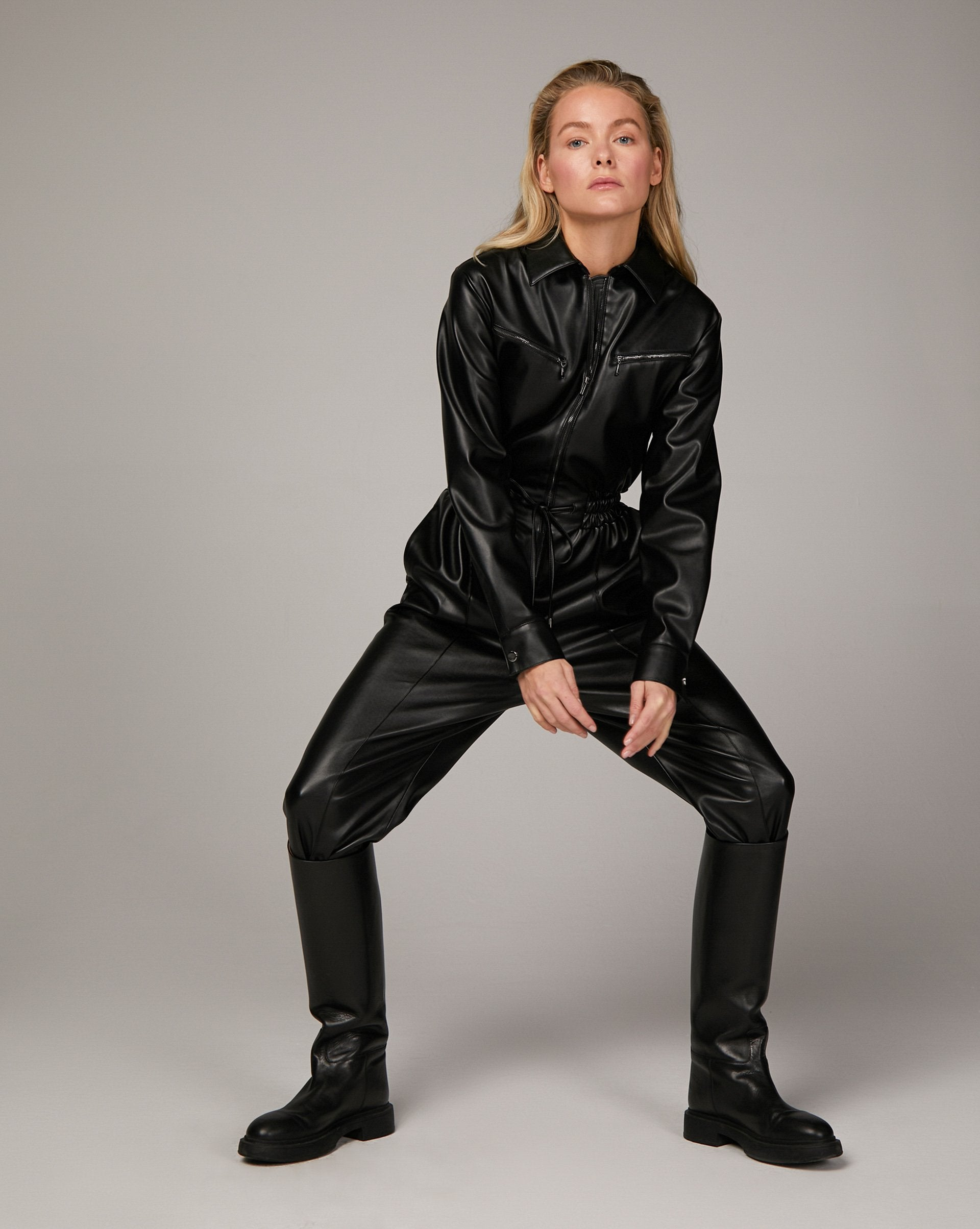 Faux-leather jumpsuit - 12 STOREEZ