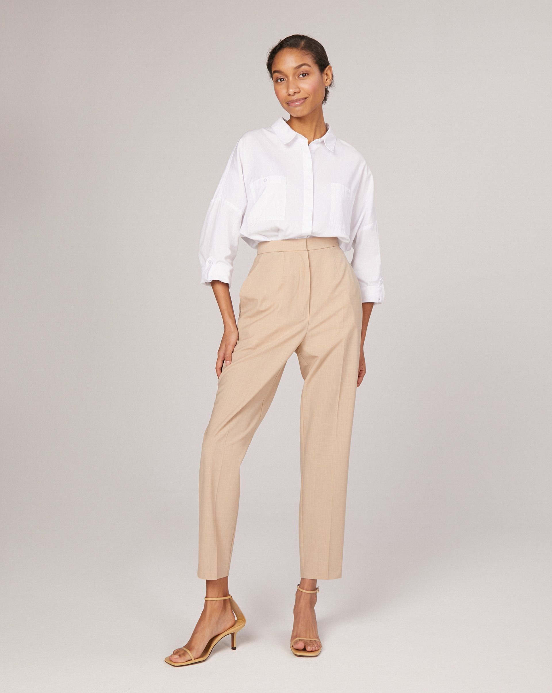 Tapered leg creased trousers - 12 STOREEZ