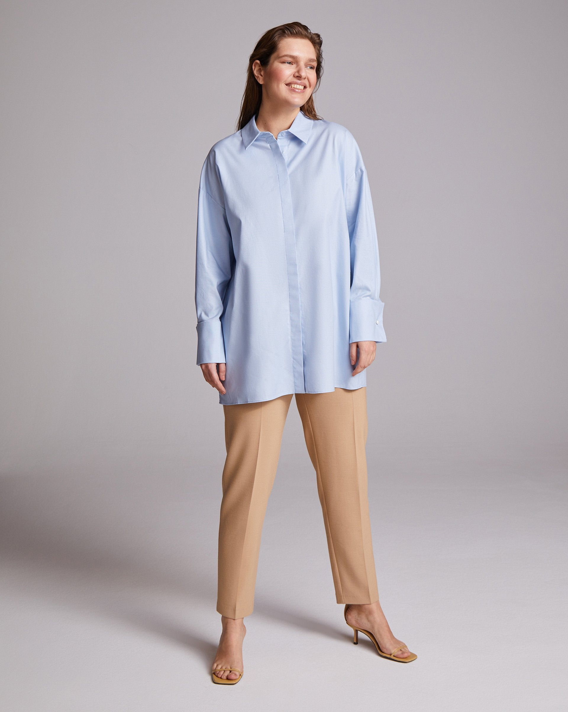 Wide-cuff oversized button up shirt - 12 STOREEZ