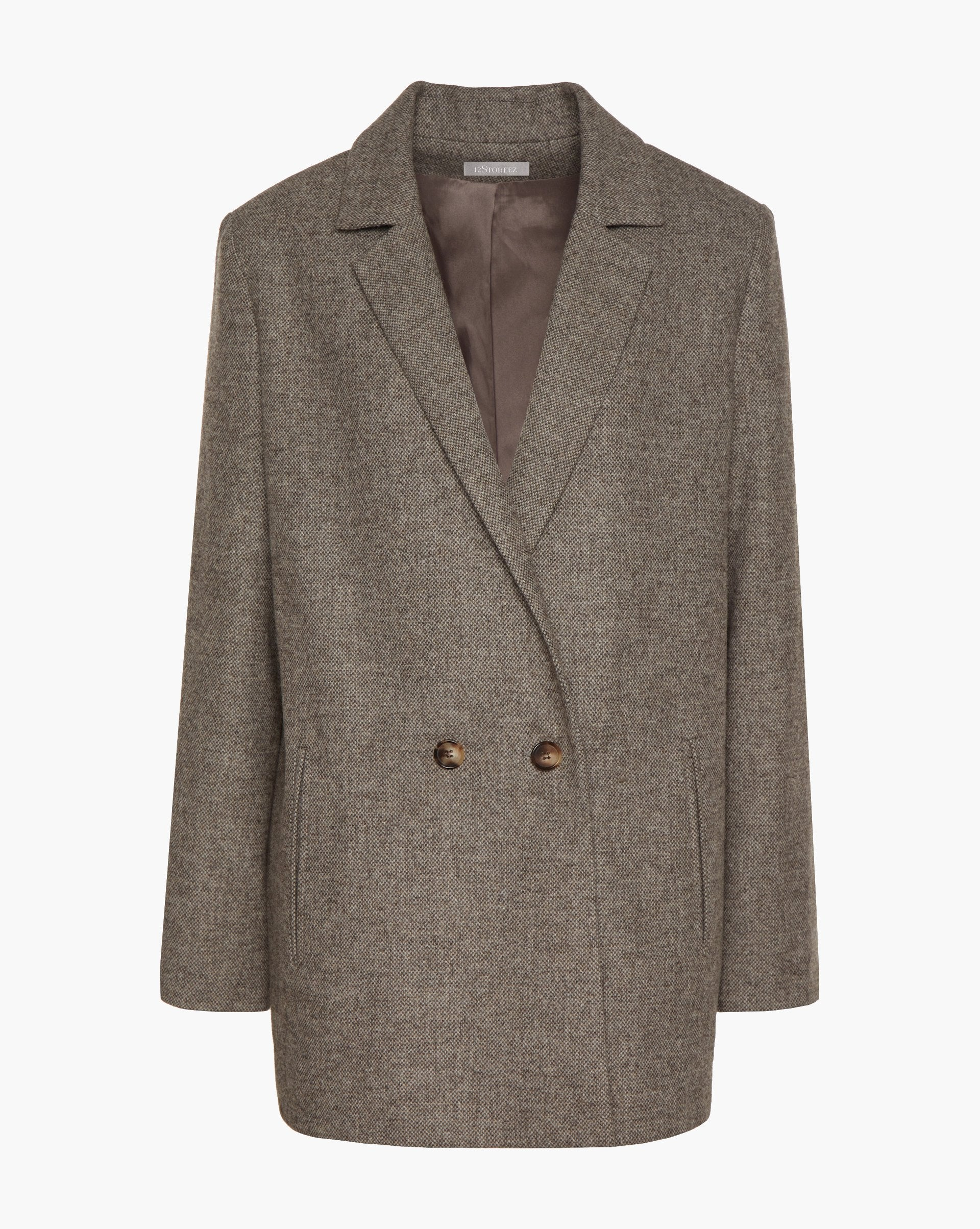 Double-breasted wool blend blazer - 12 STOREEZ