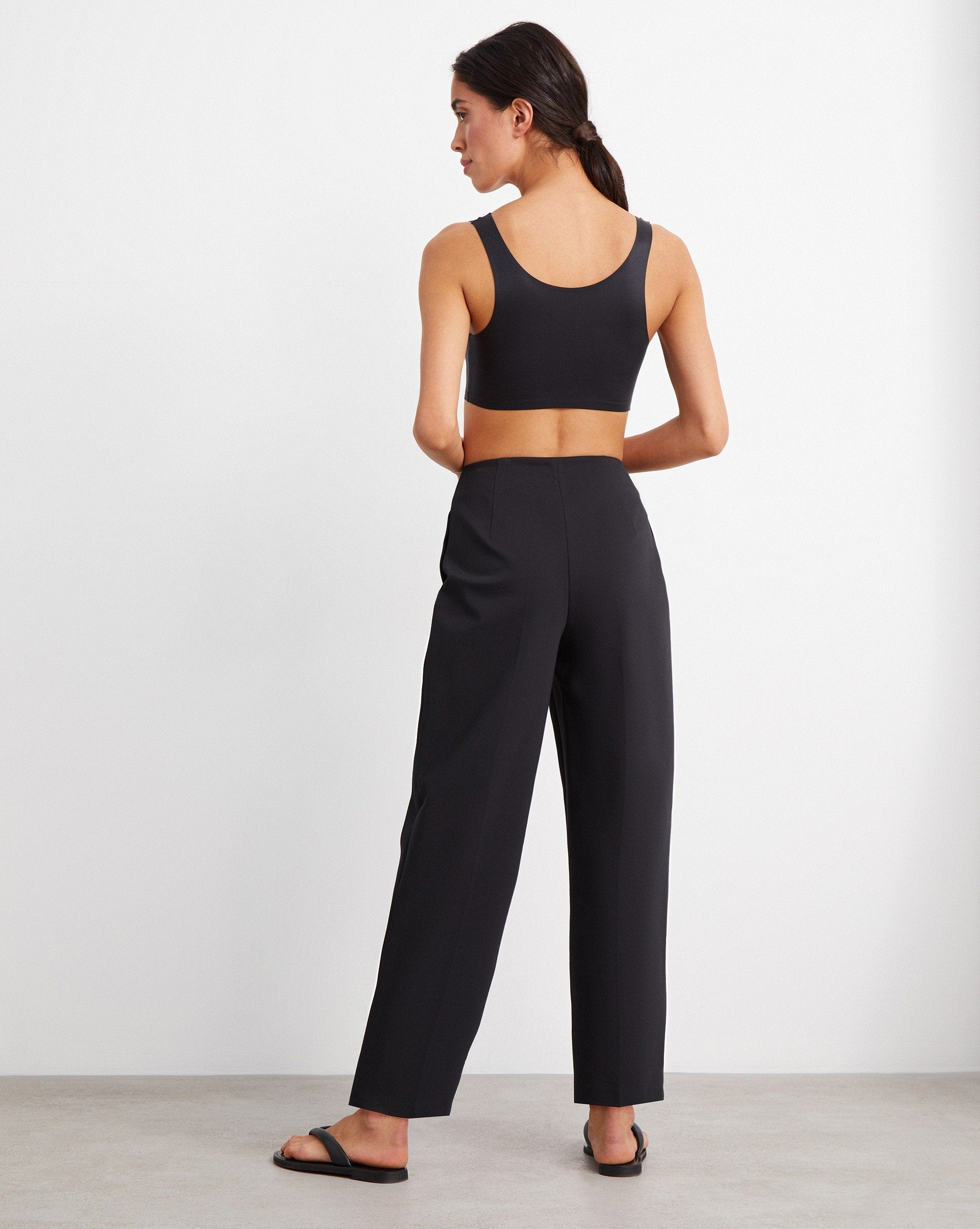 Pleated cotton blend trousers - 12 STOREEZ