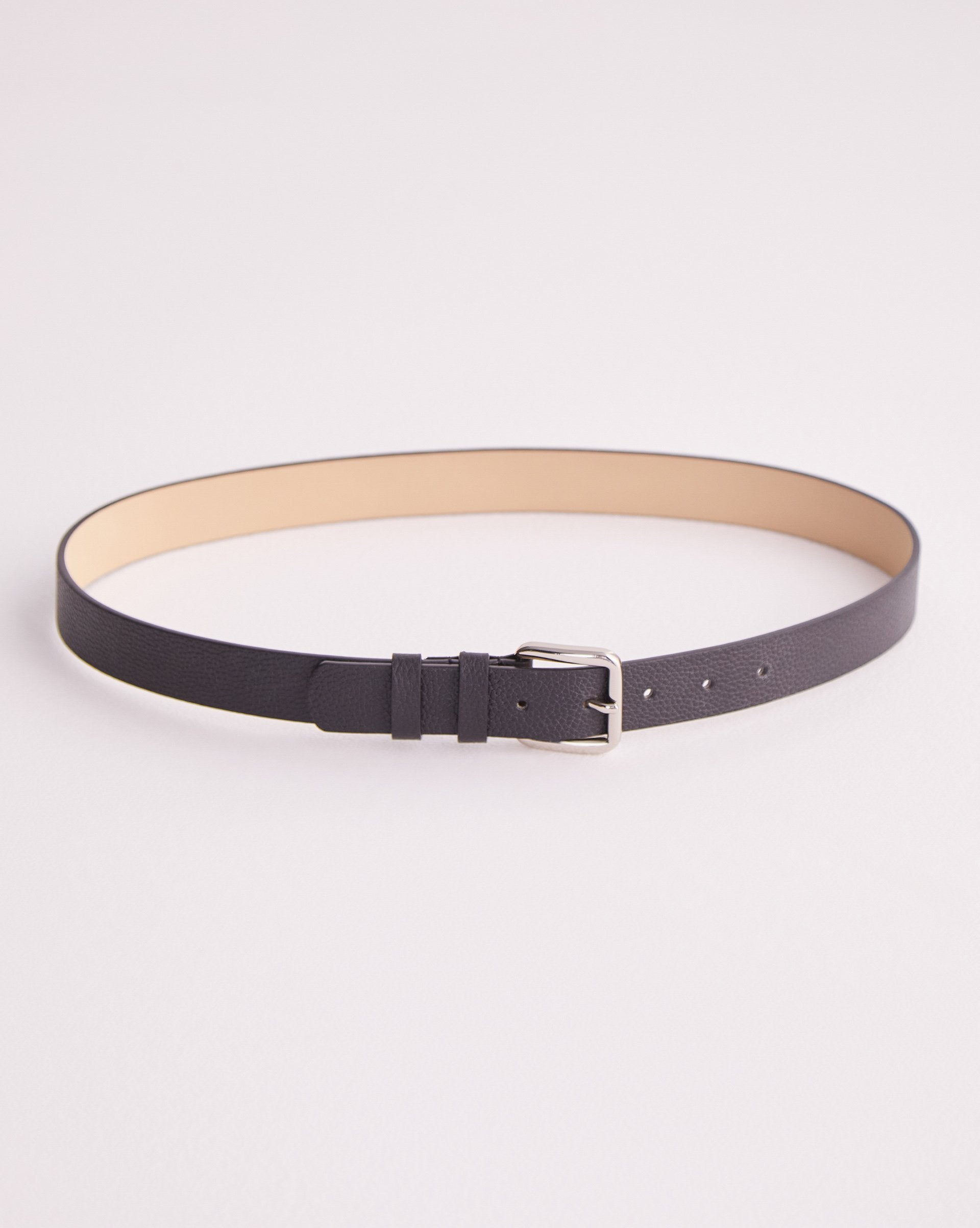 Square buckle leather belt - 12 STOREEZ