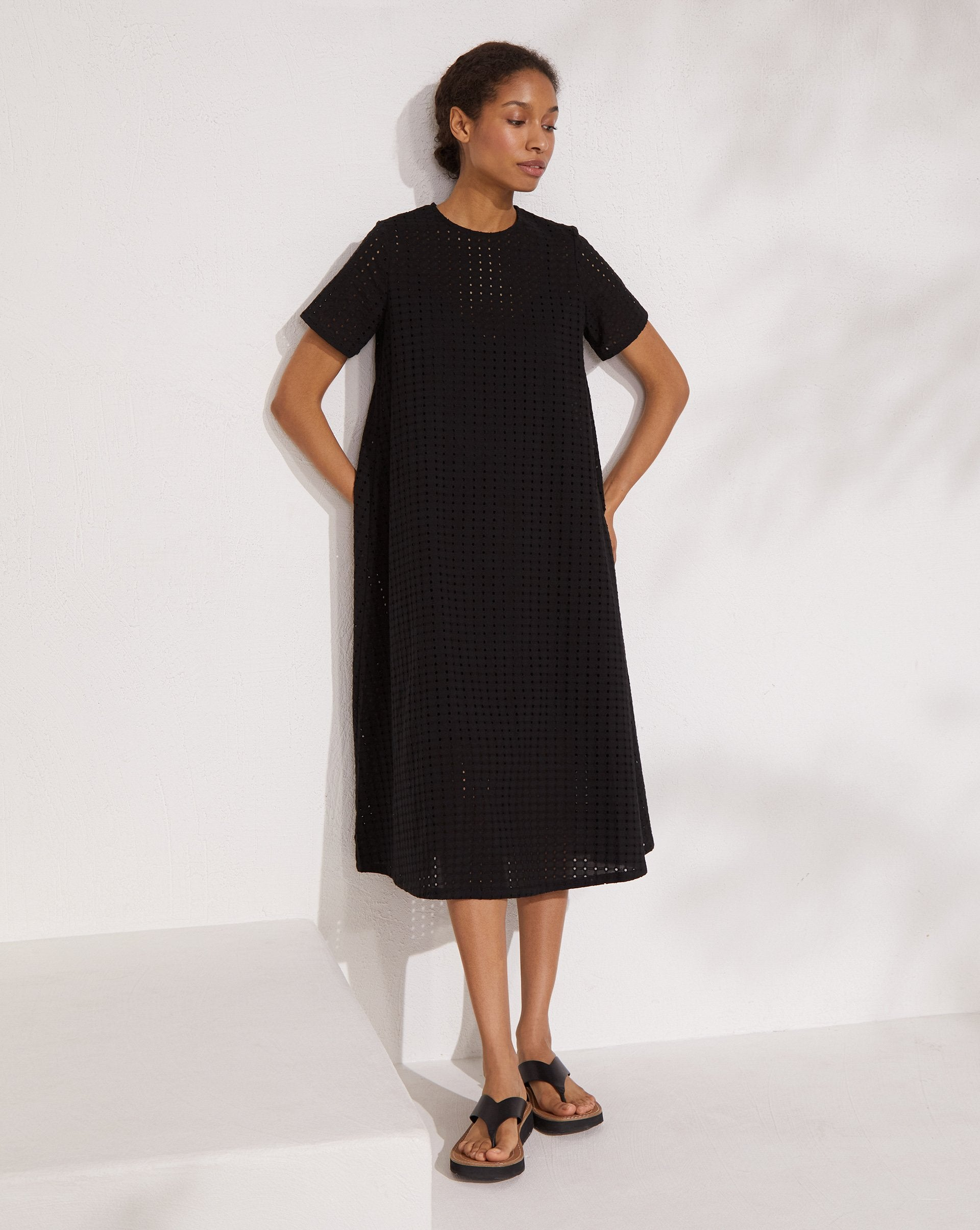 Broderie cotton midi dress - 12 STOREEZ