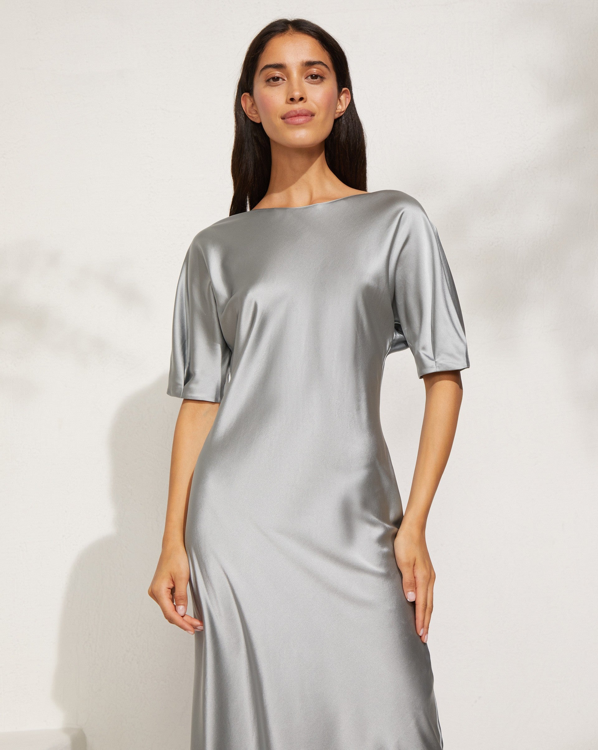 Fitted silk midi dress - 12 STOREEZ