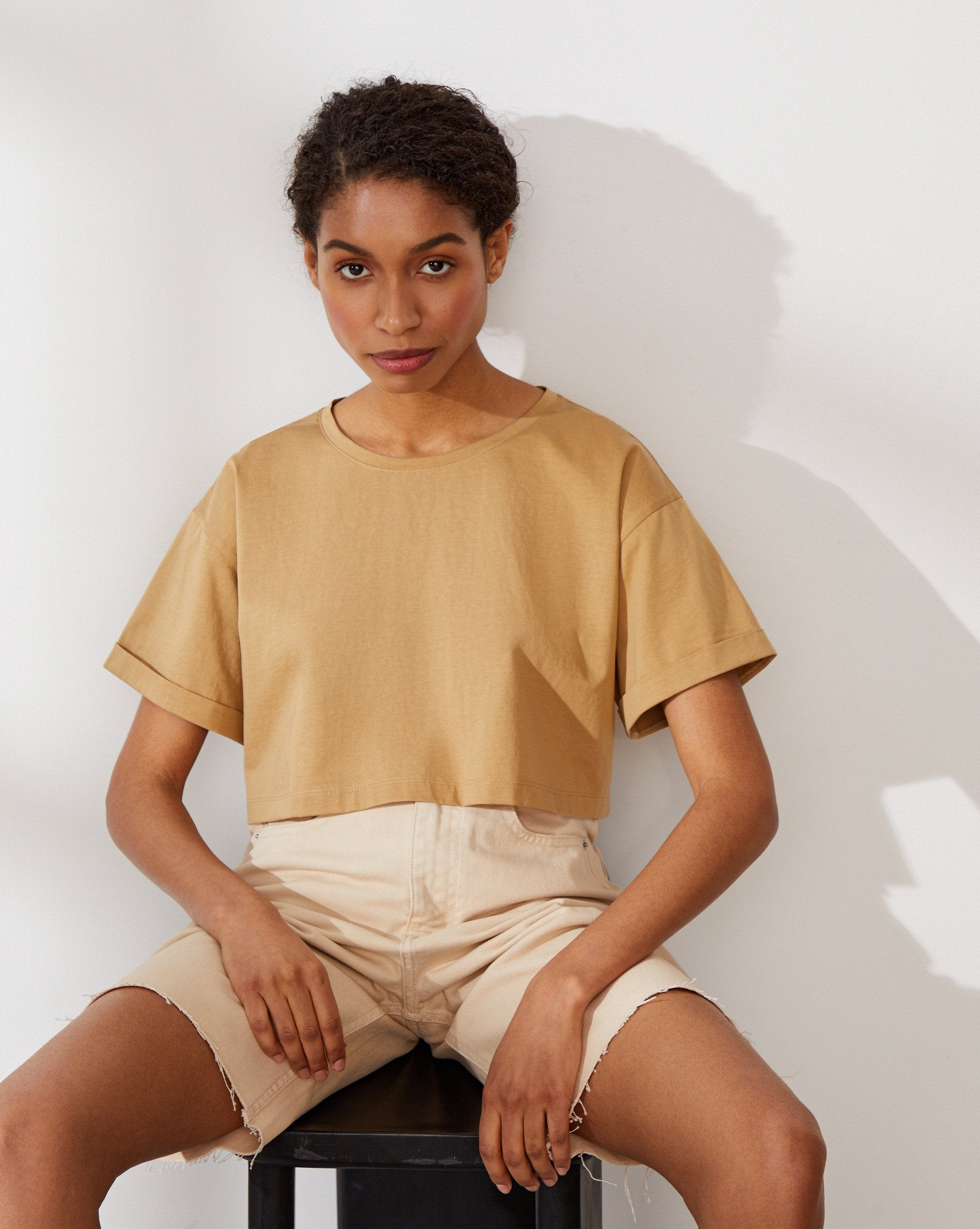 Cropped oversized T-shirt - 12 STOREEZ