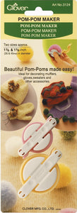 Clover Notions - Pom-Pom Maker (Small) #3124 - Beachside Knits N Quilts