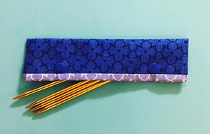 Knitting Needle Cozy - Project Keeper - Blue Deco