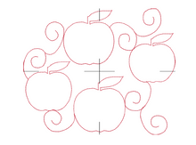 Load image into Gallery viewer, Apples Edge to Edge 8x11 - Machine Embroidery Quilting Design - Beachside Knits N Quilts