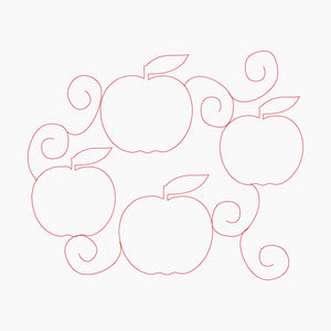 Apples Edge to Edge 8x11 - Machine Embroidery Quilting Design - Beachside Knits N Quilts