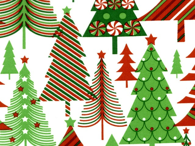 Merry Christmas Basics - Christmas Trees - Cotton Fabric - Beachside Knits N Quilts