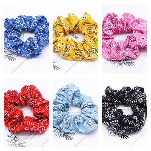 Paisley Hair Scrunchies