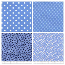 Load image into Gallery viewer, Treasures in the Attic Fat Quarter Bundle - Blue