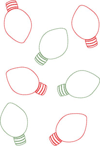 Christmas Lights Allover - Machine Embroidery Quilting Design - 5x7 Hoop