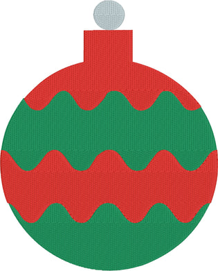 Christmas Ornament 1 - Machine Embroidery Design - 5x7 Hoop - FREE DOWNLOAD - Beachside Knits N Quilts