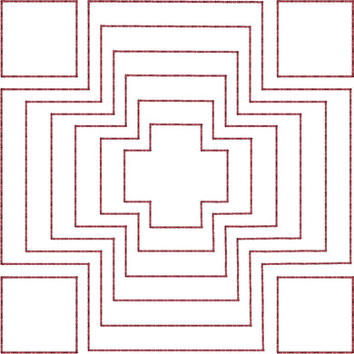 Cross Maze - Machine Embroidery Quilting Design - 4x4 Hoop - Beachside Knits N Quilts