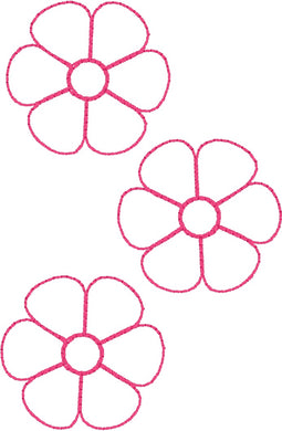Daisies 1 - Machine Embroidery Quilting Design - 4x4 Hoop