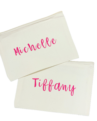 Personalized Canvas Zipper Pouch