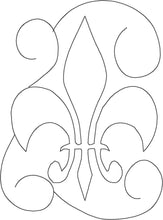 Load image into Gallery viewer, Fleur De Lis Swirl - Machine Embroidery Quilting Design - 5x7 Hoop - Beachside Knits N Quilts