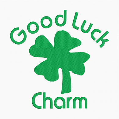 Good Luck Charm - Machine Embroidery Design - 4x4 Hoop - Beachside Knits N Quilts