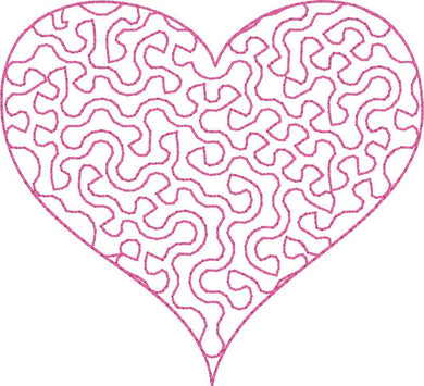 Heart Stipple - Machine Embroidery Design - 4x4 Hoop - Beachside Knits N Quilts