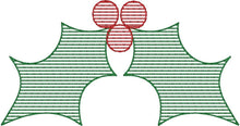 Load image into Gallery viewer, Christmas Stripes Set of 3 - Machine Embroidery Quilting Design - 4x4 Hoop
