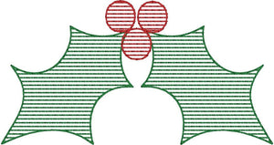 Christmas Stripes Set of 3 - Machine Embroidery Quilting Design - 4x4 Hoop