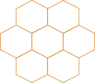Honeycomb - Machine Embroidery Quilting Design - 4x4 Hoop