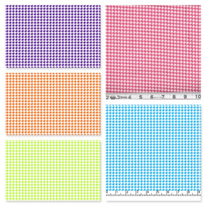 Pleated Face Mask with Ties - Houndstooth - Choose from Pink, Turquoise, Orange, Green, Purple