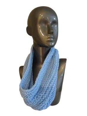 Baby Blue Knitted Cowl | Beachside Knits N Quilts
