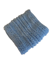 Load image into Gallery viewer, Baby Blue Knitted Cowl | Beachside Knits N Quilts