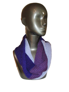 Shades of Purple Knitted Infinity Scarf | Beachside Knits N Quilts