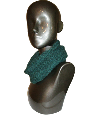 Kale Heather Alpaca Wool Infinity Scarf | Beachside Knits N Quilts